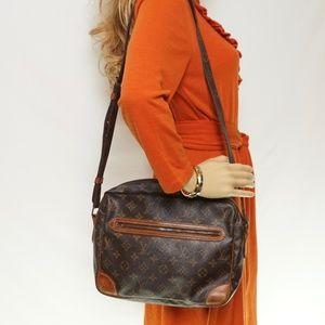 Auth Louis Vuitton Bag Shoulder Browns #970L16